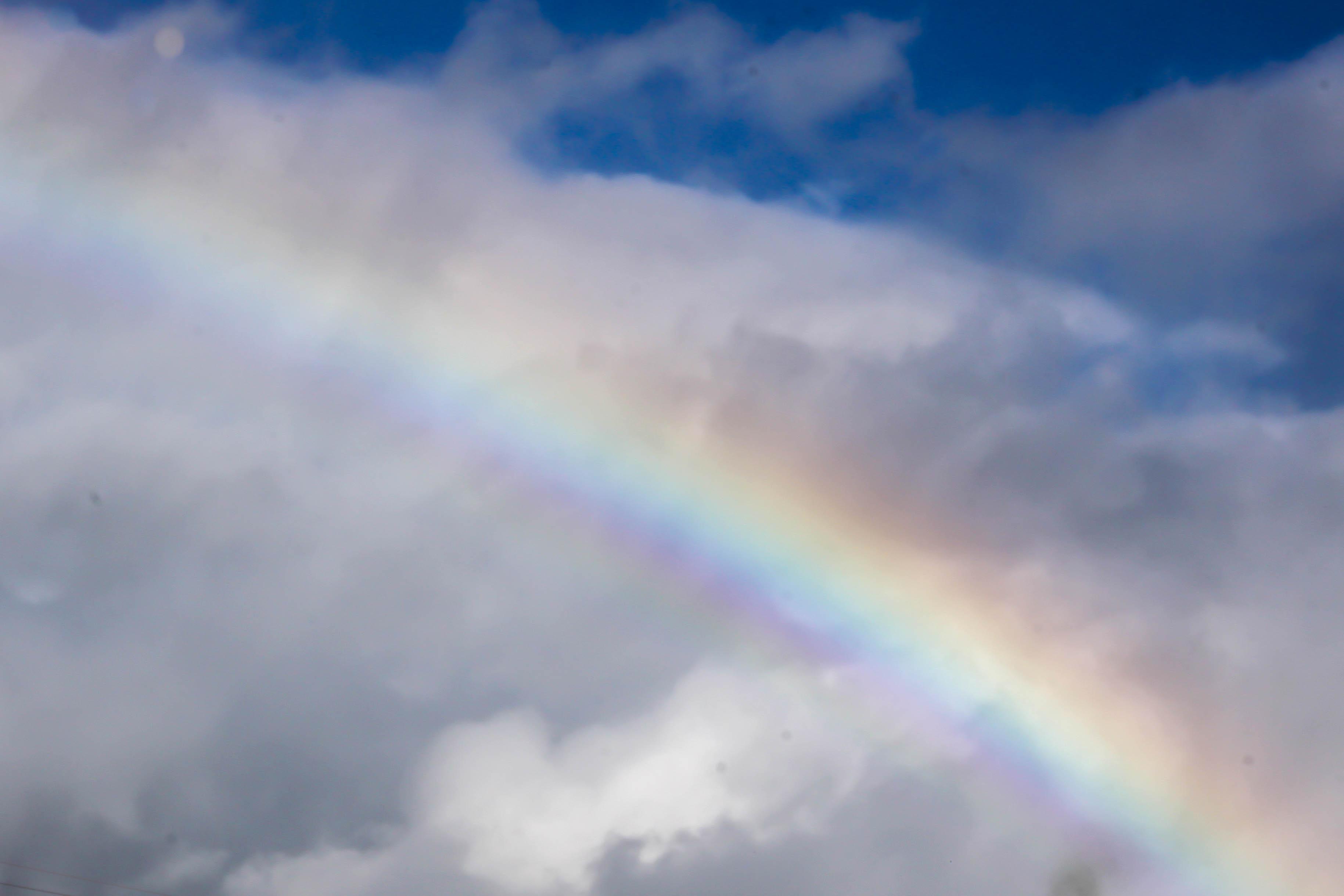 Gorgeous rainbow to begin our trip!