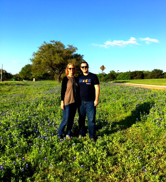 Obligatory bluebonnet pic at St. Edward's University