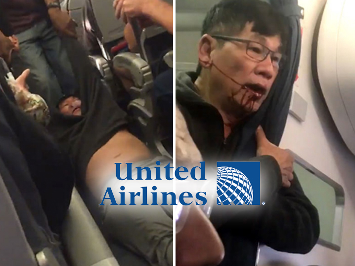 United Airlines drags passenger off plane