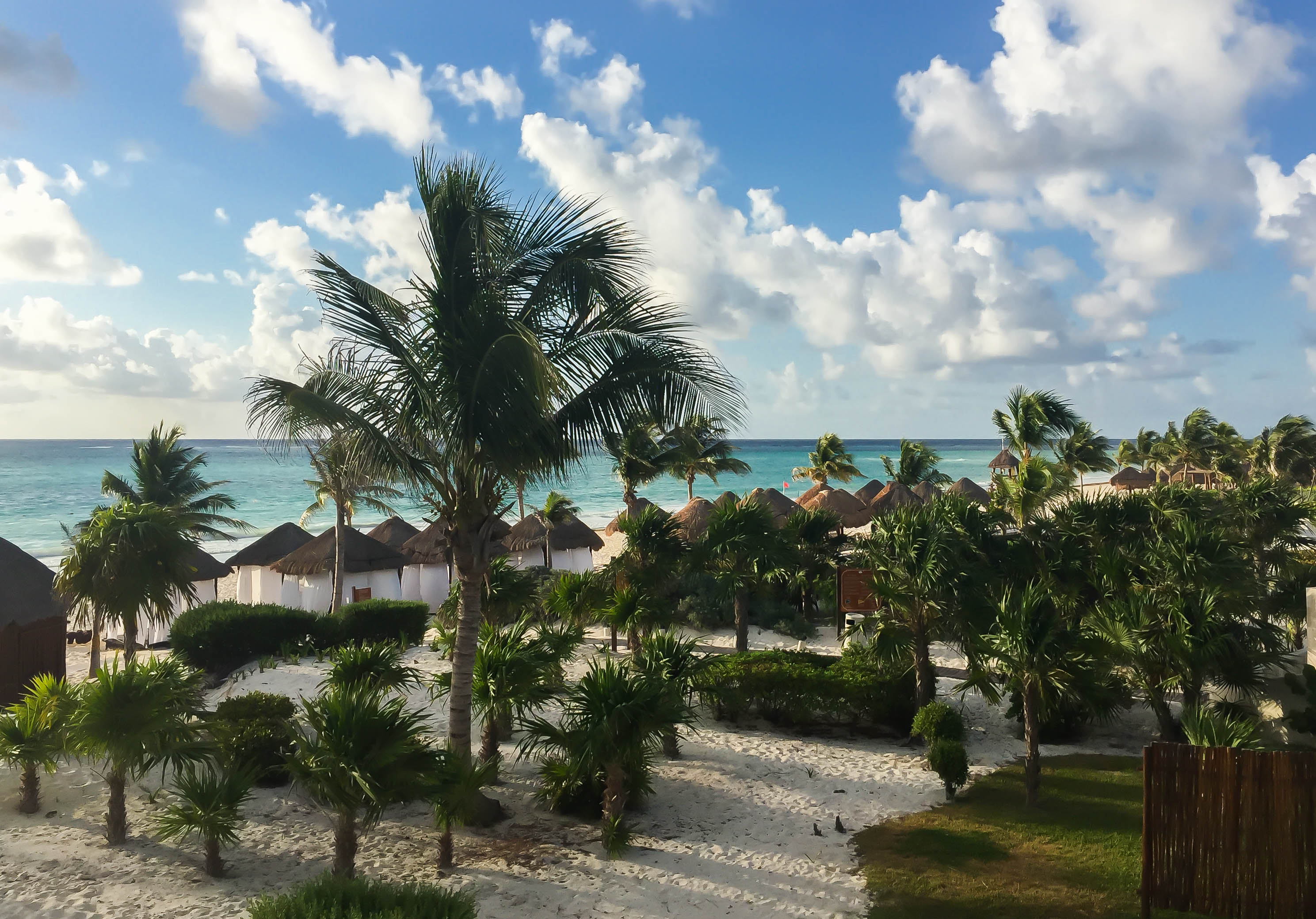 View from our balcony at Secrets Maroma Beach