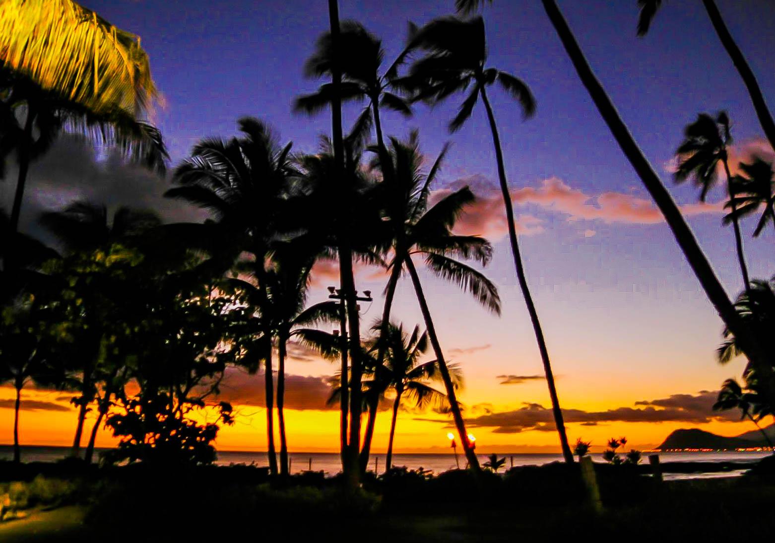 Sunset at Secrets Maroma Beach