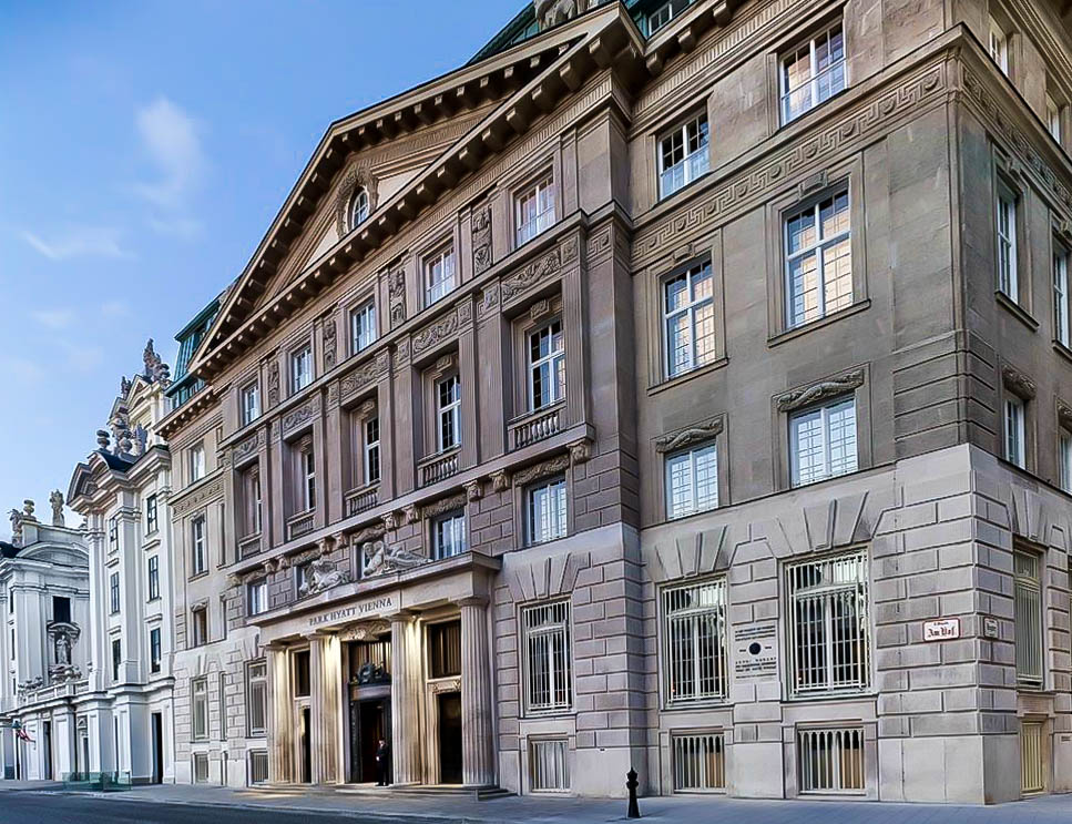 Front entrance of the Park Hyatt Vienna