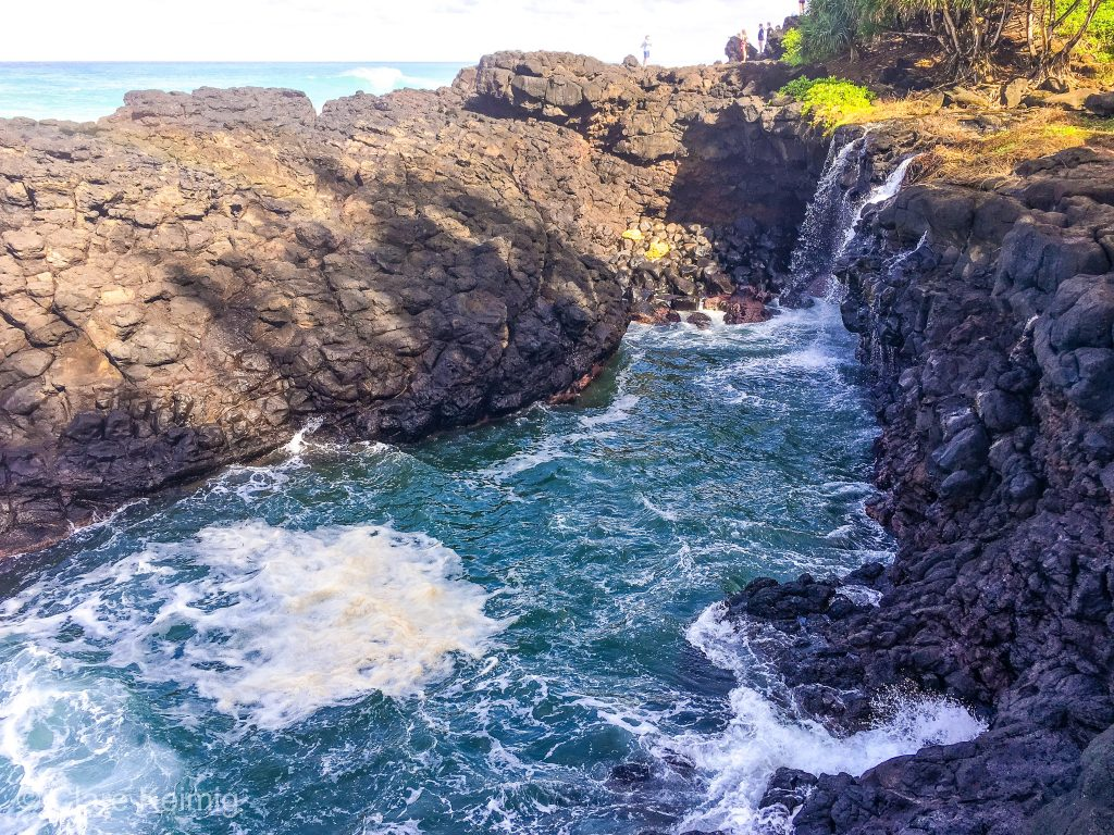 Waves around Queen's Bath, Kauai