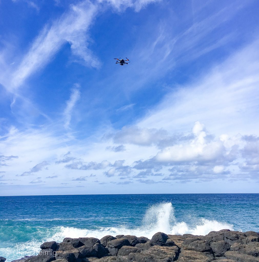 GoPro Karma Drone flying over Queen's Bath, Kauai