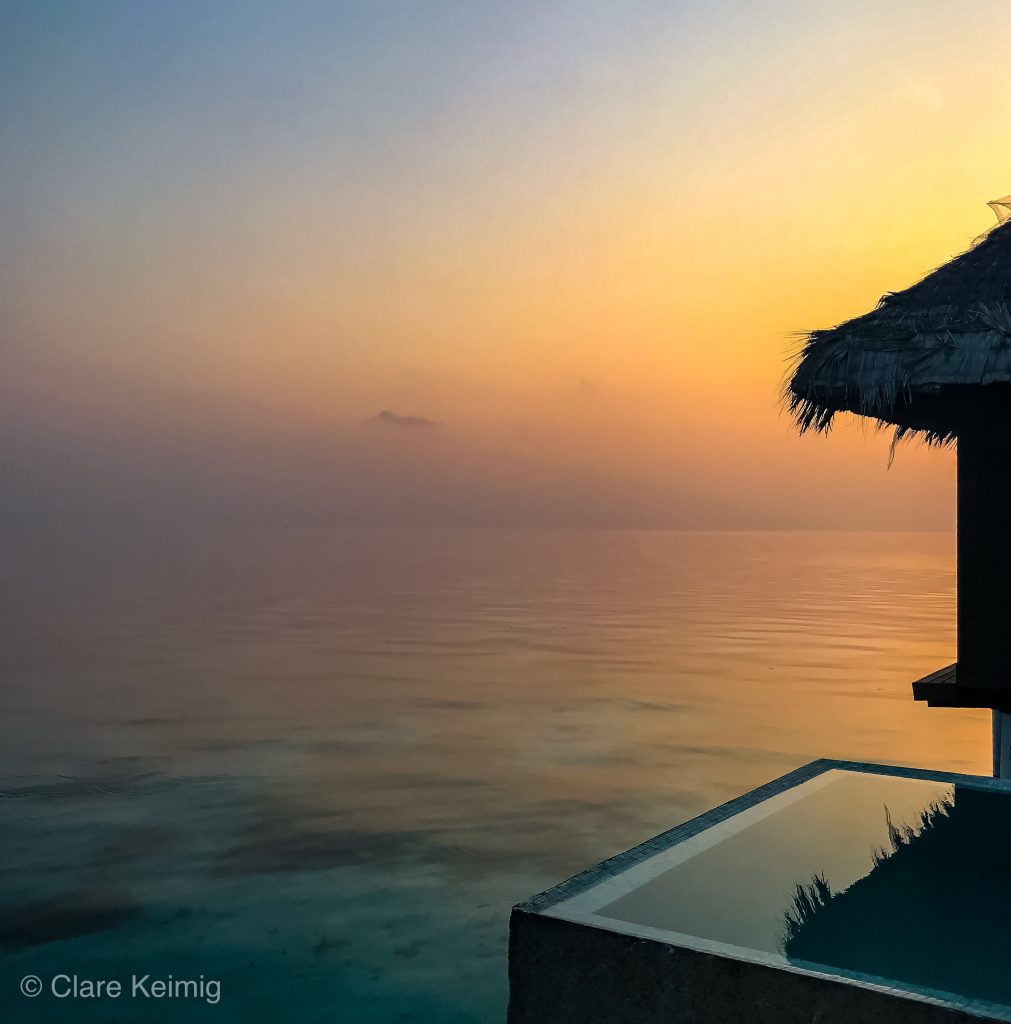 Sunset over Coco Bodu Hithi Maldives